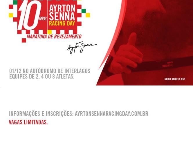 Corra: inscrições limitadas para a 10ª Maratona Ayrton Senna Racing Day.