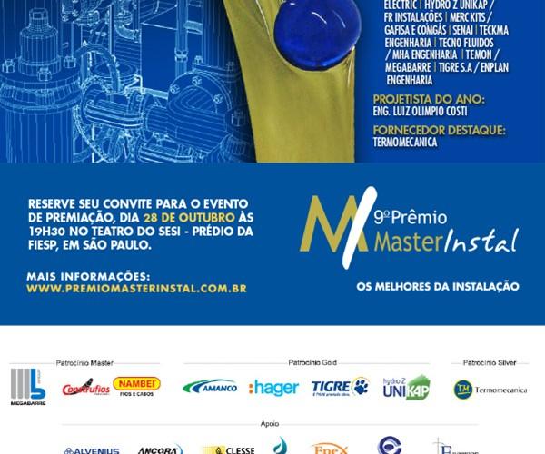 9º Prêmio MasterInstal dia 28 de Outubro