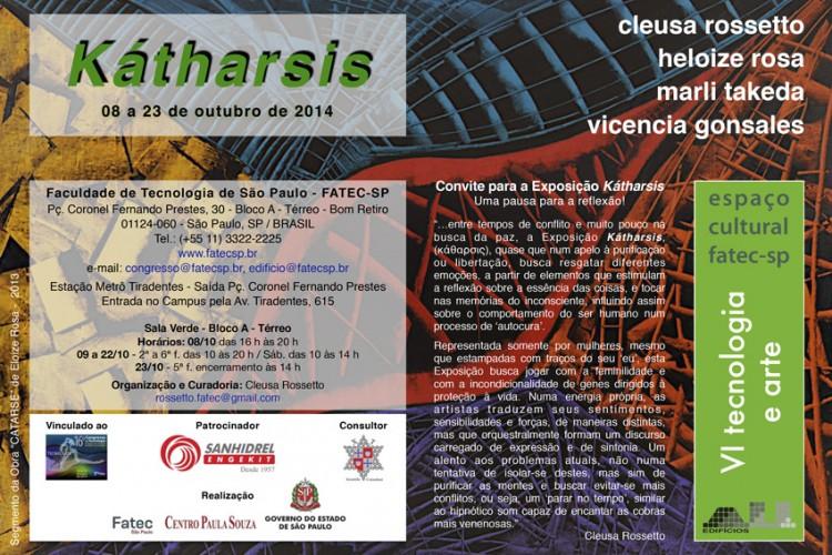 Exposição Kátharsis – Espaço Cultural Tecnologia e Arte da FATEC-SP