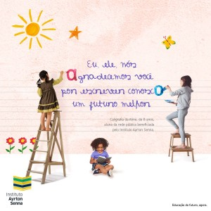 Campanha Escreva Comigo, do Instituto Ayrton Senna, beneficia cerca de mil alunos