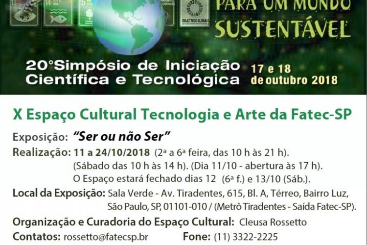 X Espaço Cultural Tecnologia e Arte da Fatec-SP – 2018