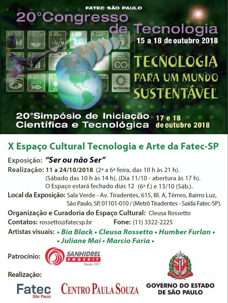 Convite 20 Congresso Tecnologia e 10 Espaco Cultural