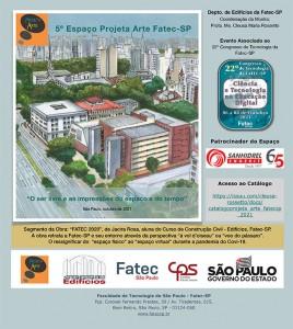 5º Espaço Projeta Arte FATEC-SP/2021 – Palestra dia 07/10 às 8h
